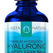InstaNatural Hyaluronsaeure Serum für trockene Haut im Gesicht - Mit Vitamin C, organische und reine Zutaten für Falten, Faeltchen, Traenensaecke - Fortgeschrittene Antialterungs-Feuchtigkeitscreme für Maenner und Frauen - 2 OZ - 1