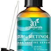 Art Naturals Enhanced Retinol Serum 2.5% with 20% Vitamin C & Hyaluronic Acid 1 oz- -Best Anti Wrinkle, Anti Aging Serum for Face & Sensitive Skin -Clinical Strength Organic Ingredients -Night Therapy - 1