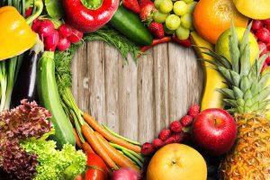 Viel Obst und Gemüse für eine schöne Haut