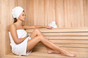 Sauna für eine rosige Haut