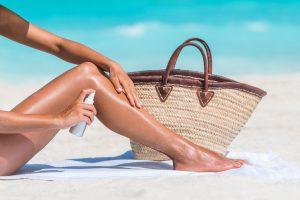 Für eine jugendliche Haut Sonnenschutz verwenden