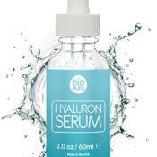 Bionura Hyaluronsäure Anti-Aging Gesichtsserum mit organischen Inhaltsstoffen, Vitamin C/E und Grüner Tee für alle Hauttypen, 1er Pack (1 x 60 ml) - 1