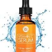 Das beste Vitamin C Serum für Ihr Gesicht mit 20% Vitamin C + Hyaluronsäure + Vitamin E + Jojobaöl. Natürliche AntiAging + Anti Falten + Bio Kollagen Booster Gesichtsserum mit organischen Inhaltsstoffen. Ideal für den Einsatz mit einer Derma Roller. - 1